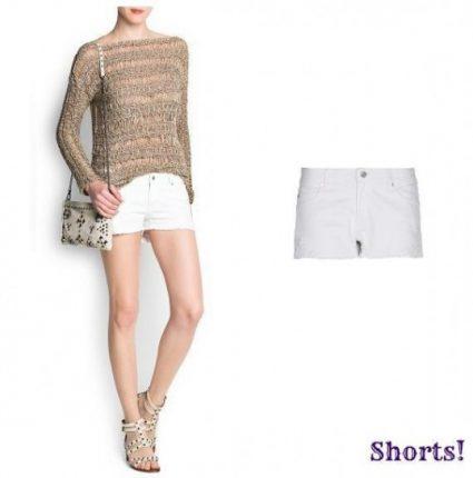 Shorts bianco Mango primavera estate 2013
