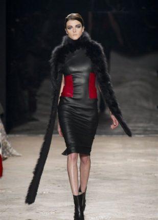 Simonetta Ravizza collezione autunno inverno 2013 2014 abito in pelle