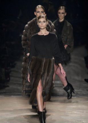 Simonetta Ravizza collezione autunno inverno 2013 2014 gonne in pelliccia