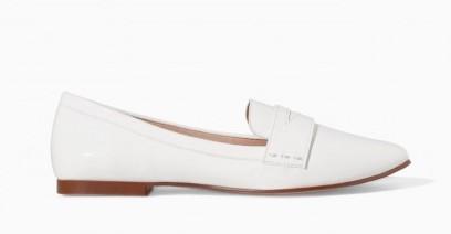 Slippers bianche Zara scarpe autunno inverno 2015