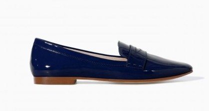 Slippers blu Zara scarpe autunno inverno 2015