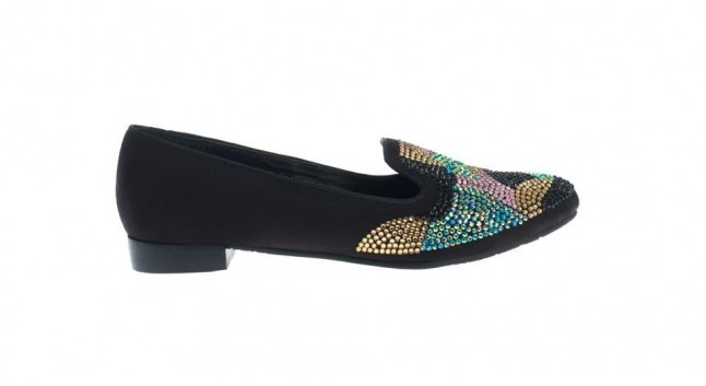 Slippers nere con paillettes primavera estate 2013