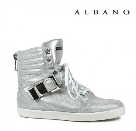 Sneakers alte argentate Albano primavera estate