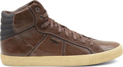 Sneakers alte pelle Geox scarpe autunno inverno
