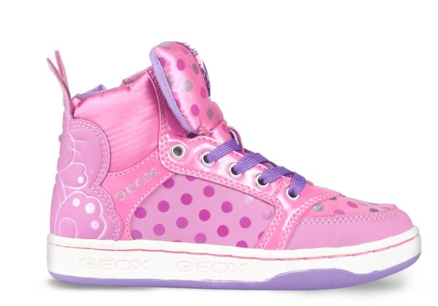 Sneakers alte rosa Geox scarpe autunno inverno