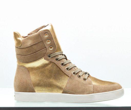Sneakers alti oro Liu Jo scarpe autunno inverno 2015