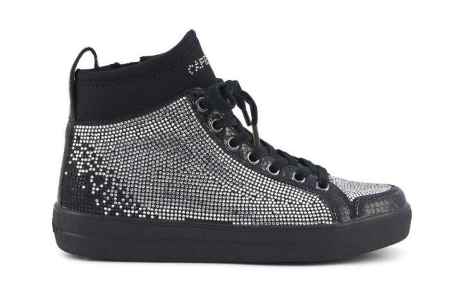 Sneakers con strass Cafè Noir autunno inverno 2017 nere
