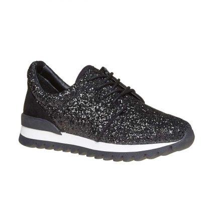 Sneakers con strass nere Bata autunno inverno 2017
