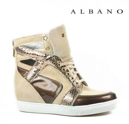 Sneakers dorate con zeppa interna Albano primavera estate