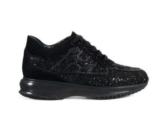 Sneakers glitter nere Hogan autunno inverno 2017