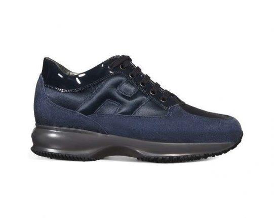 Sneakers in camoscio blu Hogan autunno inverno 2017