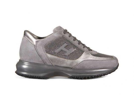 Sneakers in camoscio grigio Hogan autunno inverno 2017