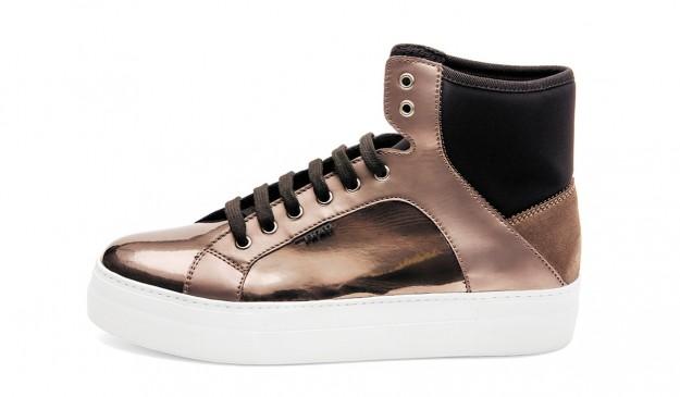 Sneakers metallizzate Frau scarpe autunno inverno 2014 2015