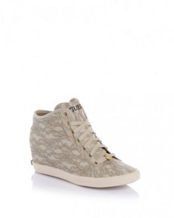 Sneakers pizzo panna Guess scarpe autunno inverno 2015