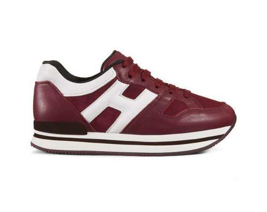 Sneakers rosse e bianche Hogan autunno inverno 2017