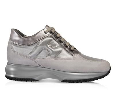 Sneakers silver metallic scarpe Hogan autunno inverno