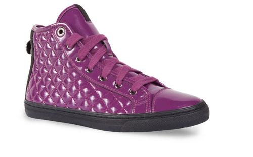 Sneakers teapuntate vernice Geox scarpe autunno inverno