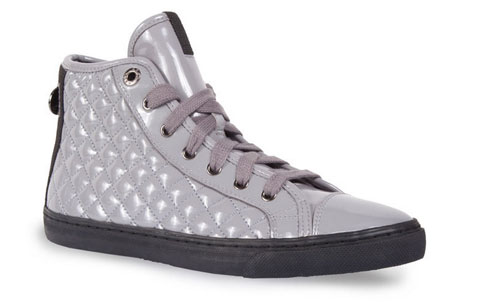 Sneakers trapuntate vernice Geox scarpe autunno inverno