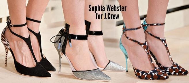 Sophia Webster per J-Crew scarpe autunno inverno 2014 2015
