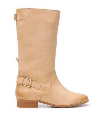 Stivale in pelle Zara scarpe autunno inverno 2015