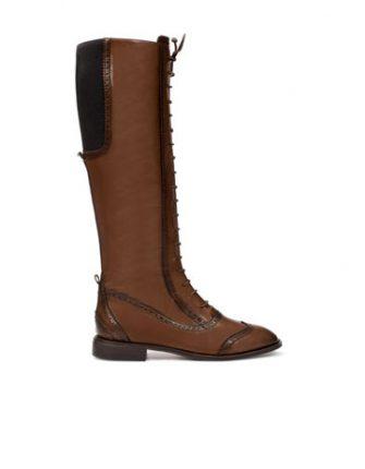 Stivale stringato Zara scarpe autunno inverno 2015