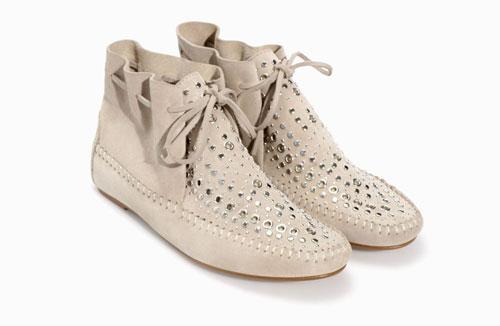 Stivaletti con-borchie Zara scarpe autunno inverno 2015