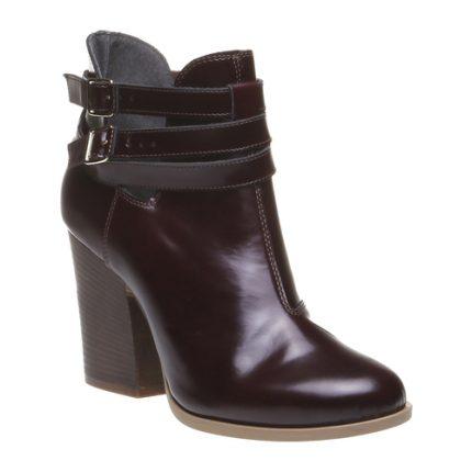 Stivaletti con tacco in pelle lucida Bata scarpe autunno inverno 2015