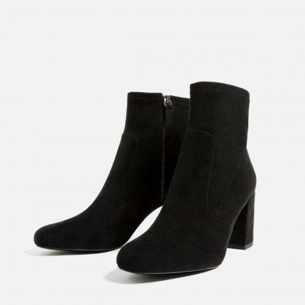 Stivaletti in suede nero Zara autunno inverno 2017