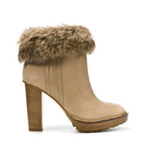 Stivaletto con pelliccia Zara scarpe autunno inverno 2015