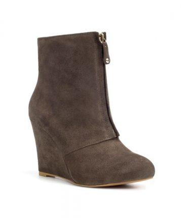 Stivaletto con zeppa e zip Zara scarpe autunno inverno 2015