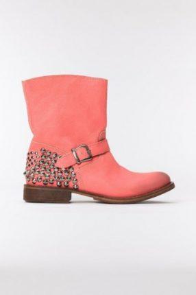 Stivaletto rosa con borchie Twin Set primavera estate 2013