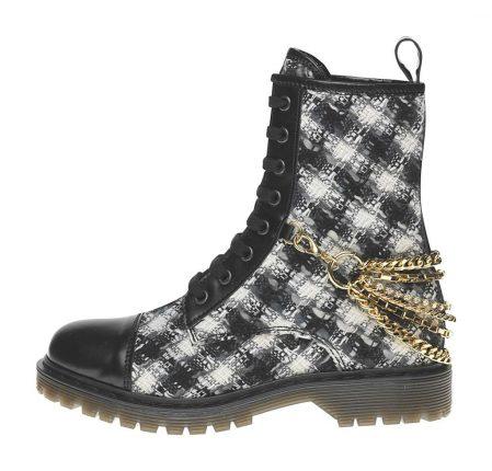 Stivaletto stampa quadri Fornarina scarpe autunno inverno 2015