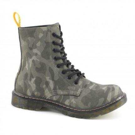 Stivaletto stringato mimetico Cafè Noir scarpe autunno inverno 2015