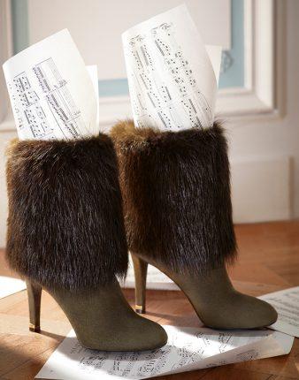 Stivali con pelliccia Louis Vuitton