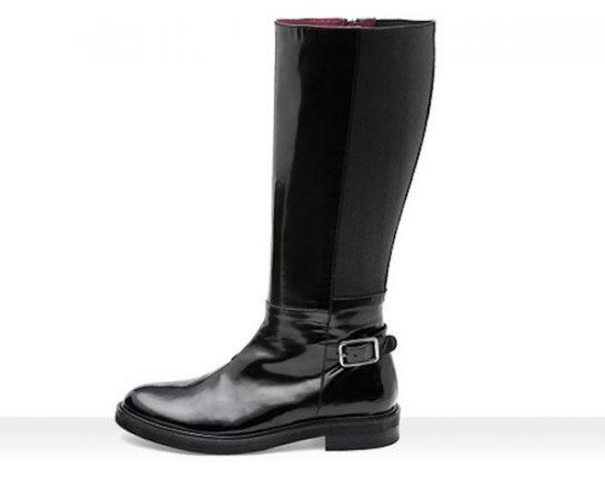 Stivali neri con tacco basso Frau scarpe autunno inverno 2014 2015