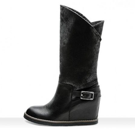 Stivali neri con zeppa Frau scarpe autunno inverno 2014 2015