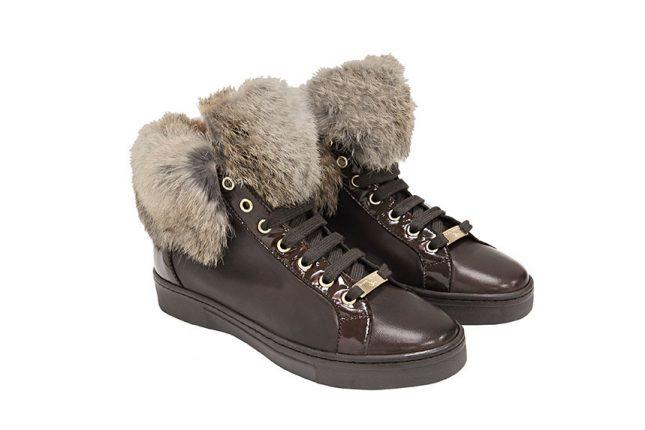 Stringate con pelliccia Tosca Blu scarpe autunno inverno 2015