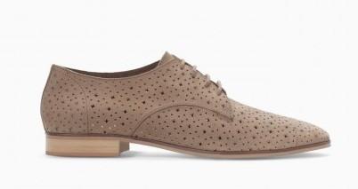 Stringate laser cut Zara scarpe autunno inverno 2015
