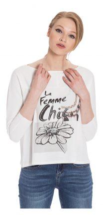 T-shirt con scritta Camomilla autunno inverno 2017