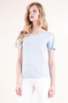T-shirt in viscosa stretch ricamata Luisa Spagnoli primavera estate