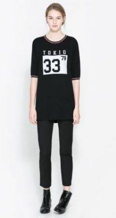 T-shirt nero Zara primavera estate 2014