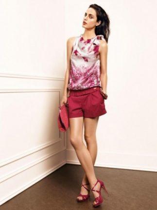 Top e shorts magenta Liu Jo primavera estate 2013