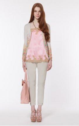 Top rosa e cardigan con applicazioni Twin Set primavera estate 2013