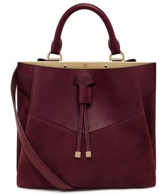 Tote bag burgundy Mulberry