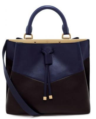 Tote bag nera e blu Mulberry