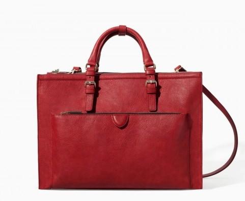 Tote rossa Zara borse autunno inverno 2015