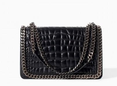 Tracolla a catena Zara borse autunno inverno 2015