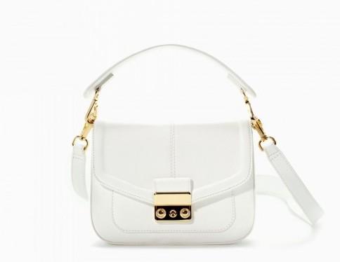 Tracolla bianca Zara borse autunno inverno 2015