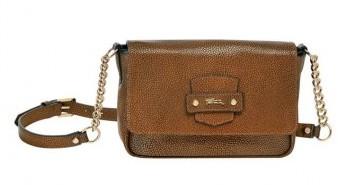 Tracolla Longchamp marrone