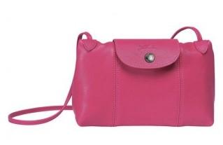 Tracolla Longchamp rosa